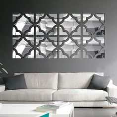 Wall Decor Towallmark Acrylic Removable Art Wall Mirror Stickers DIY Home Room Decals Decor from Decorative Wall Mirrors - For Perfecting The Beauty Of ... & Mirrored Chevron Print Wall Decoration #new #product #homedecor ...