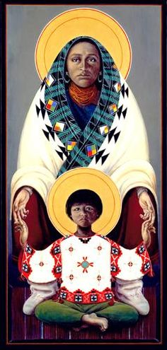Hopi Madonna and Child 2 | John Giuliani | Icons & paintings | Hillstream LLC