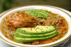 El aguado de gallina o aguado de pollo es una sopa espesa preparada con pollo, arroz, papas, cebollas, tomates, pimientos, zanahorias, arvejas, hierbas y especias.
