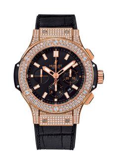 aa4ca5c62c0 Big Bang Gold Pavé 44mm Chronograph watch from Hublot Relógios De Diamantes  Para Homens