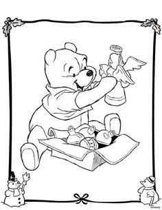 Winnie the Pooh Christmas Printables Christmas colors Adult
