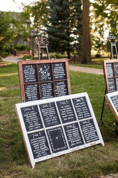 old windows ~ chalkboard / wedding seating chart ~ this could be used for any event that uses a seating chart
