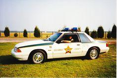 Retired Deputy Rodell Cranfords 1993  Ford Mustang Patrol Car 5.0