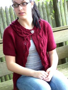 Knitting Pattern  Rustling Leaves Cardigan by KnitChicGrace