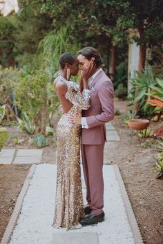 Downtown LA Styled Elopement Photos in a Hidden Garden