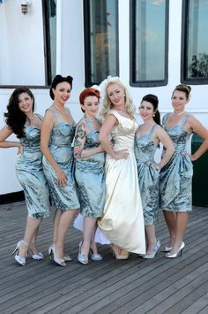 I'm soo obsessed with pin up culture... bridesmaids be forewarned...it could go this way.. or I could go Scarlett O'Hara on your ass...
