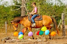 Balloon ACTHA obstacle. My horse and I have some work to do!