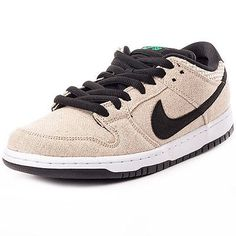 Nike skateboarding dunk low premium mens #teainers #textile beige #black new shoe,  View more on the LINK: 	http://www.zeppy.io/product/gb/2/391463834931/
