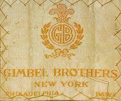 Gimbel Brothers New York, Philadelphia, Paris. 1910-15.