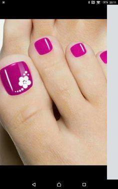 Nails gel, we adopt or not? - My Nails Pretty Toe Nails, Cute Toe Nails, Toe Nail Art, My Nails, Hair And Nails, Beach Toe Nails, Manicure E Pedicure, Pedicures, Pedicure Ideas