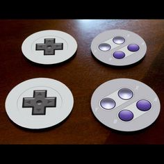 (affiliate link) FOR THE HOME :: Retro Gaming Controller Coasters (Set of 4) - Shut Up And Take My Money Store!