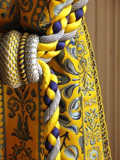 Gotta have these colors, this fabric! I Versailles - Grand Trianon - Curtains - Detail by Dal, via Flickr