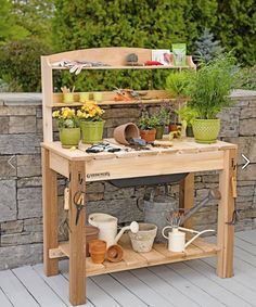 Potting Bench from Gardner's Supply Company