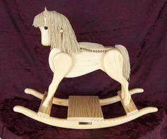 Rocking Horse Handmade Woodenpony natural by andrewsrockinghorse