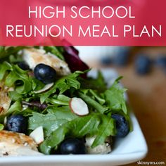 High School Reunion Menu Plan--shed some pounds before the big reunion!  #highschoolreunion #mealplan #skinnyms