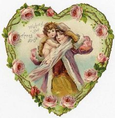 Lady Cupid Valentine Heart by Frances Brundage 1900