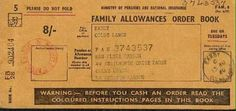 Family Allowance Book for per week payable for the second child 1970s Childhood, My Childhood Memories, Childhood Toys, Sweet Memories, School Memories, Nostalgic Images, I Remember When, My Memory, Memory Album