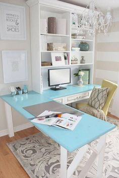Contemporary Home Office Design Ideas - Search photos of contemporary office. Discover motivation for your trendy home office design with ideas for style, storage space and furniture. Craft Room Office, Home Office Desks, Room, Home Office Decor, Interior, Home Decor, Room Inspiration, House Interior, Office Design