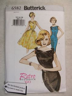 Butterick Misses Retro 1960 Dress Sewing Pattern Size 12, 14, 16. A new pattern from butterick brings back 1960 dress. Not sure what a sewing pattern is?. You get the envelope that has the paper sewing pattern in it with Instructions to make it with. | eBay!