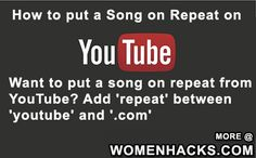 How to put a Song on Repeat on YouTube - #LifeHack, #Music, #Youtube