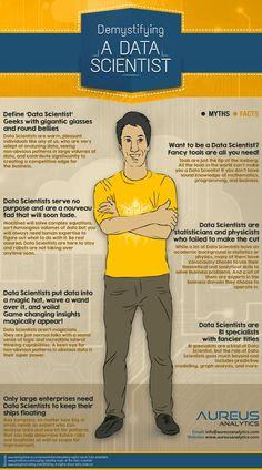 Demystifying A Data Scientist #infographic #DataScientist #BigData: