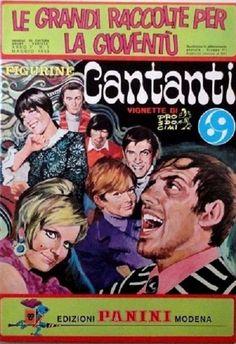 ALBUM FIGURINE CANTANTI PANINI COPERTINA 1969