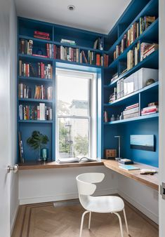 Trendy home office inspiration wall bookcases Home Library Design, Home Office Design, Home Office Decor, Interior Design Living Room, Home Decor, Library Ideas, Study Room Design, Office Ideas, Office Furniture