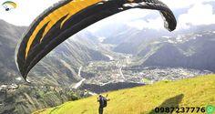 Parapente Cursos Baños Ecuador Aprende en nuestra escuela de parapente a volar. Realizando el curso de iniciacion Opens sky pilot de 4 a 5 dias intensivos y certificarte con licencia Appi..