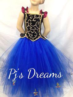 Anna Tutu Dress Disney Frozen Ballet Dance Recital Winter Fairy Princess