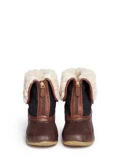 TORY BURCH - 'Abbott' quilted shearling boots - on SALE | Flat Boots | Womenswear | Lane Crawford - Shop Designer Brands Online