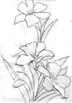 diseño vitral dibujo flores - Buscar con Google