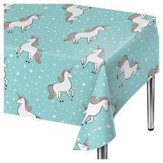 Unicorn Blue Disposable Tablecloth - Spritz : Target