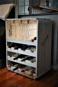 Recycled, pallet, winerack