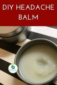 Diy headache balm recipe to help you make your own homemade natural headache relief remedy with essential oils! #headacherelief #naturalremedies #essentialoils