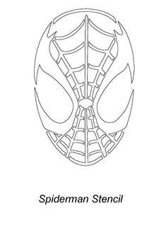 Spiderman Mask Stencil Halloween Stenc
