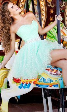 Sherri Hill Dress in Tiffany Blue www.madamebridal.com
