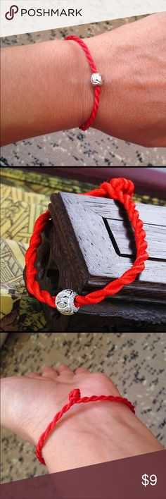 SOLD 🔵Lucky 🍀 Hollow ball charm red lucky 🍀 bracelet Jewelry Bracelets