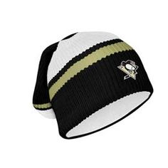 Official Pittsburgh Penguins Hockey Floppy. This is a traditional winter toque made from warm fleece lined hockey sock. The toque is officially licensed by the NHL and features an embroidered team logo on the front. #SupportYourTeam in style.