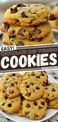 Dreams are made of this easy chocolate dessert recipe! Soft and sweet, these delicious chocolate chip cookies with vanilla pudding will quickly become a favorite. The possibilities are endless when it comes to changing up the flavors! Bake up a batch for your family! Easy Chocolate Desserts, Great Desserts, Delicious Chocolate, Delicious Desserts, Dessert Recipes, Dessert Bread, Candy Recipes, Easy Cookie Recipes, Sweet Recipes