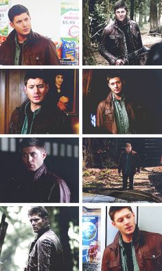 [gifset] Dean and his leather jacket. #SPN #Dean