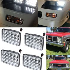 4PC For GMC C1500 C2500 Suburban C3500 G2500 4X6 LED Headlights CREE Sealed Beam…