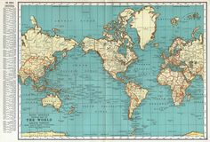 World grunge map sepia coffee recipes and coffee world map vintage 1930s original rand mcnally wall decor map artvintage mapsinternational gumiabroncs Image collections