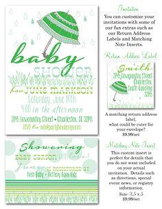 baby shower invites, boy baby shower invites, baby sprinkle, sprinkle shower invites, boy baby shower, Party Box Design