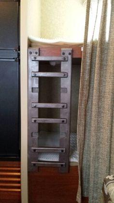 DIY ladder for bunk beds in camper