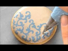 ▶ How To Pipe Filigree Using The Royal Icing Wet on Wet Technique - YouTube
