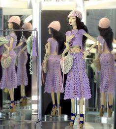 Fashion Doll Agency Doll: Lia Collection Croisière II wearing: Tango hand made crochet www.fashiondollag...