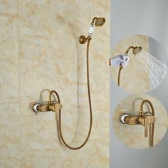 82.56$  Buy now - http://alits6.worldwells.pw/go.php?t=32559061056 - Euro Style Bathroom Shower Set Wall Mounted Single Lever Mixer Shower Units 82.56$