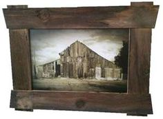 rustic picture frame...like