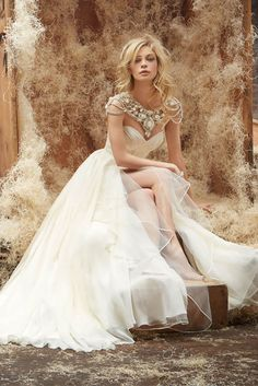 24 Most Gorgeous Wedding Dresses ❤ Sophisticated, chic, elegant, and timeless…