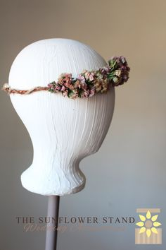 ASHLEY  Bohemian FLOWER CROWN   Peach and by TheSunflowerStand